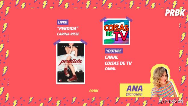 """Viciei do Purebreak: Ana indica o livro """"Poderosa"""" e o canal """"Coisas de TV"""""""