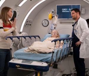 """Em """"Grey's Anatomy"""": Meredith (Ellen Pompeo) vai visitar DeLuca (Giacomo Gianniotti) na cadeia e diz que vai assumir a culpa pela fraude"""