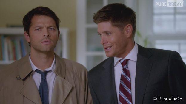 """Em """"Supernatural"""", Castiel (Mischa Collins) e Dean (Jensen Ackles) são o bromance mais querido da série"""