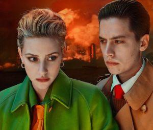 Lili Reinhart e Cole Sprouse posam juntos para a revista W Magazine