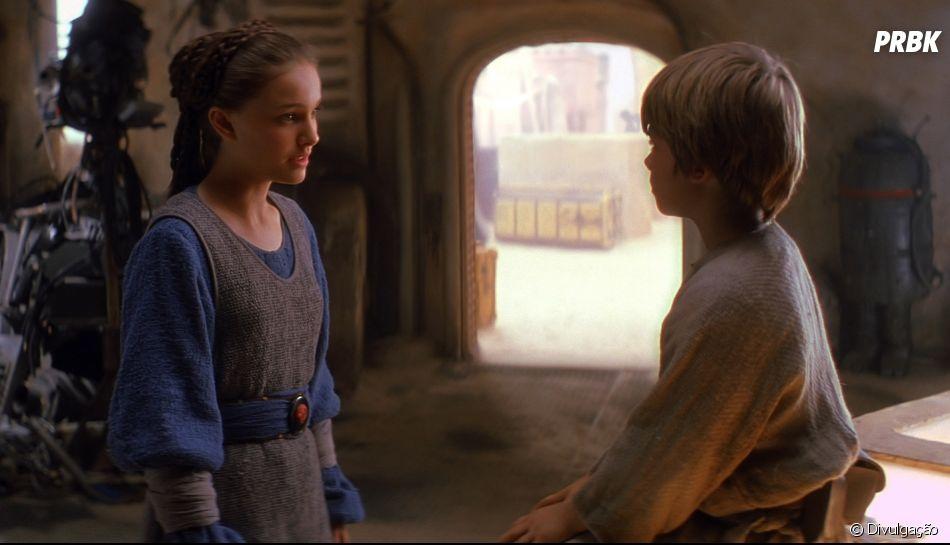"""""""Star Wars: Episódio I - A Ameaça Fantasma"""" também apresenta a Princesa Padmé Amídala (Natalie Portman), por quem Anakin se apaixona desde criança"""