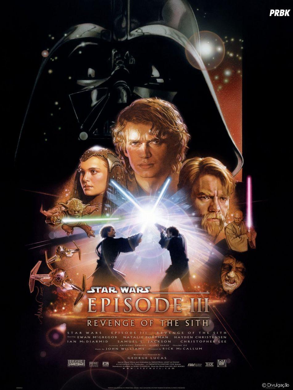 """""""Star Wars: Episódio III - A Vingança dos Sith"""" é o último da trilogia de prequel da saga original"""
