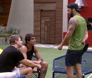 """""""BBB20"""": Hadson, Felipe e Lucas falam sobre em quem irão votar"""