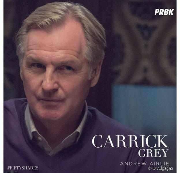 """Andrew Airlie viverá o pai adotivo de Christian Grey em """"Cinquenta Tons de Cinza"""""""