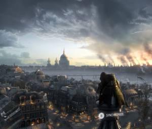 """Ao fundo, o relógio Big Ben da cidade de Londes que é a paisagem do próximo """"Assassin's Creed Victory"""""""