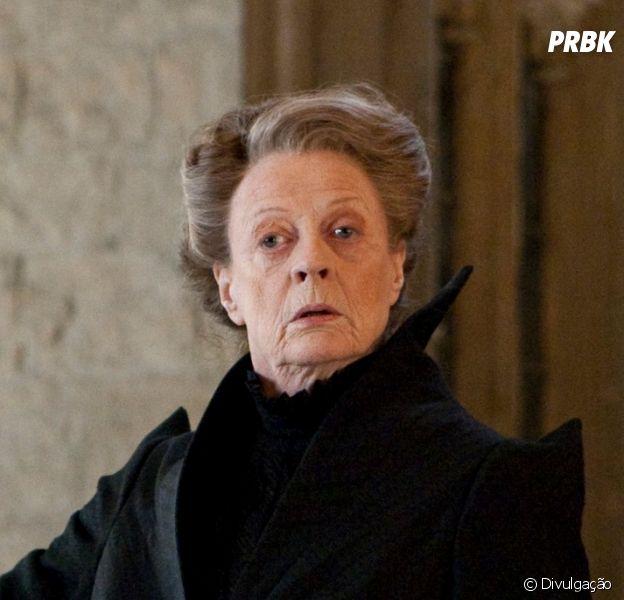 """""""Harry Potter"""": Minerva Mcgonagall (Maggie Smith) é uma das personagens mais icônicas da saga"""