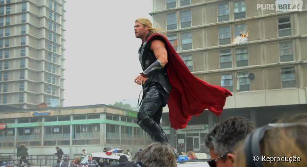 """Os Vingadores: Era de Ultron"" conta com Robert Downey Jr., Mark Ruffalo, Chris Hemsworth e Chris Evans no elenco principal"