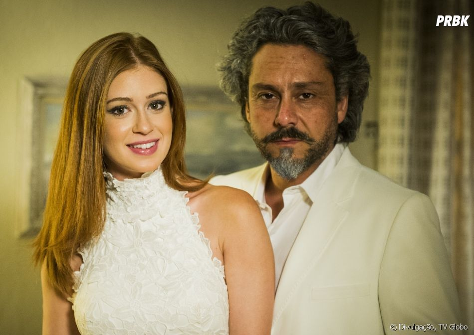 """""""Império"""": José Alfredo (Alexandre Nero) mantém um caso com Maria Isis (Marina Ruy Barbosa)"""