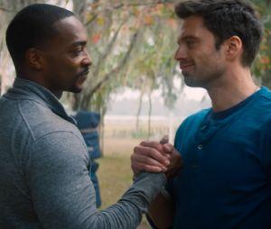 """Após """"Falcão e o Soldado Invernal"""", a amizade entre Sam (Anthony Mackie) e Bucky (Sebastian Stan) se consolidou como uma das melhores da Marvel"""