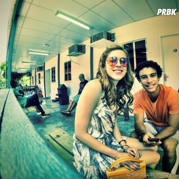 Sophia Abrahão e Sergio Malheiros são muito amigos dentro e fora das telinhas!