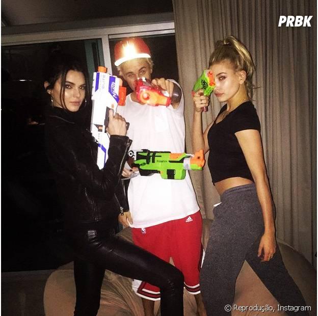 Kendall Jenner, Justin Bieber e Hailey Baldwig