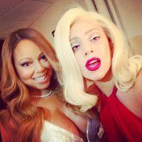 Lady Gaga faz selfie pós show com Mariah Carey! Muita diva para pouca foto!
