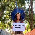 """Alice Pataxó indaga sobre o futuros dos povos indígenas se o marco temporal for aprovado: """"Para onde vão essas famílias? E que espaços essas famílias vão ocupar na sociedade?"""""""