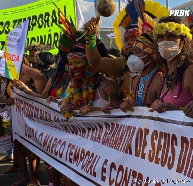 Você entendu o que significa o marco temporal? A Alice Pataxó explica o que ele significa e como pode afetar os povos indígenas