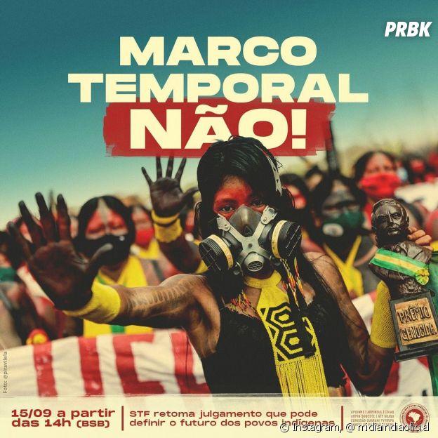 Milhares de indígenas foram para Brasília acompanhar o Supremo Tribunal Federal para proteger a demarcação dos seus territórios