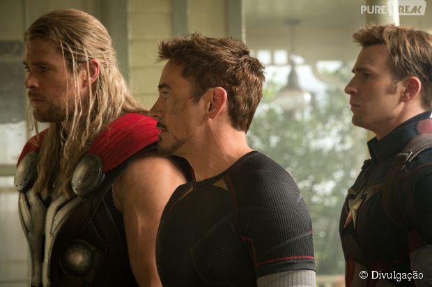 """Nova imagem de """"Os Vingadores 2"""" com Thor, Homem de Ferro e Capitão América"""