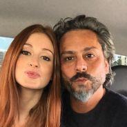 """Marina Ruy Barbosa e Alexandre Nero, da novela """"Império"""", fazem biquinho em selfie no Instagram"""