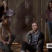 "Em ""The Walking Dead"": 5ª temporada, no 11º episódio, Rick interroga Aaron com desconfiança"