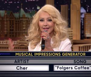 "Christina Aguilera também fez a Cher no ""The Tonight Show with Jimmy Fallon"""