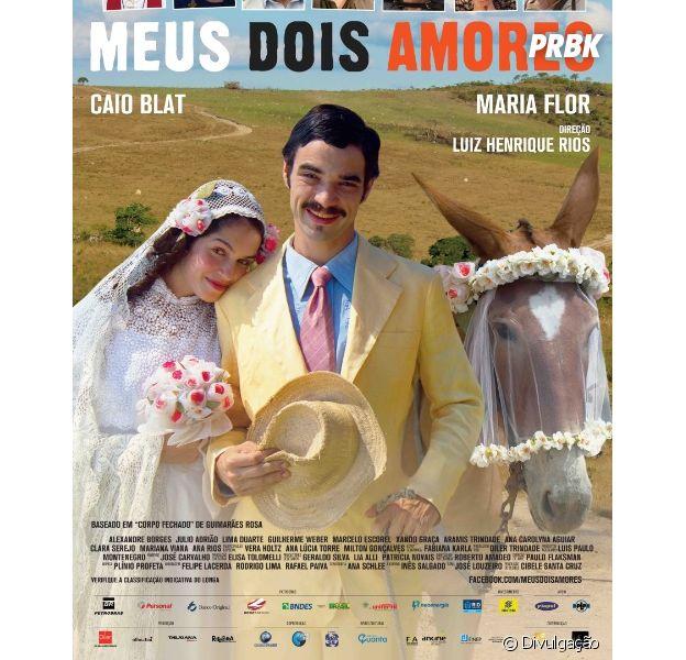 """Poster do longa """"Meus Dois Amores"""""""