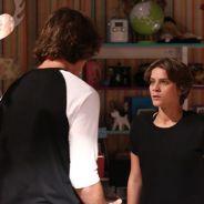 """Novela """"Malhação"""": Karina (Isabella Santoni) bate em Pedro (Rafael Vitti) e o expulsa!"""