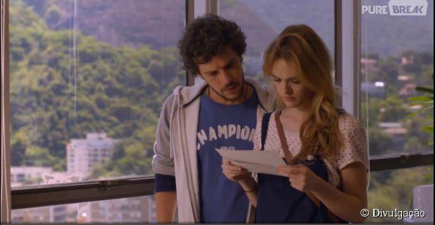"Júlia (Isabelle Drummond) e Pedro (Jayme Matarazzo) descobrem que pai é brasileiro em ""Sete Vidas"""