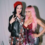 """Nicki Minaj e Katy Perry se encontram nos bastidores da """"The Pinkprint Tour"""""""