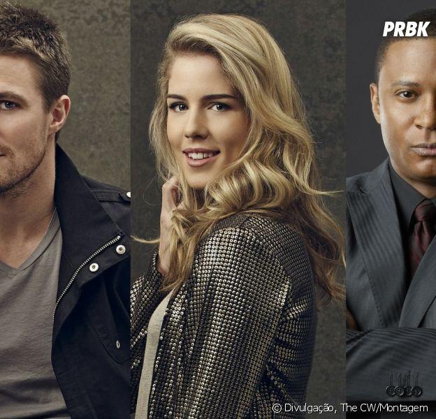 """Em """"Arrow"""", será que Oliver (Stephen Amell), Felicity (Emily Bett Rickards) ou Diggle (David Ramsey) vão morrer?"""