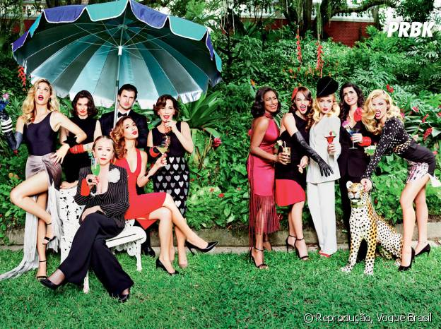 Da Globo: Fernanda Lima, Renata Vasconcellos, Thiago Jannuzzi, Gloria Pires, Camila Pitanga, Fernanda Montenegro, Glória Maria, Paolla Oliveira, Angélica, Malu Mader e Grazi Massafera estampam capa da Vogue Brasil