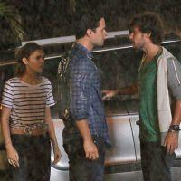 """Novela """"Sete Vidas"""": por causa de Júlia (Isabelle Drummond), Pedro quebra braço em briga com Edgard"""