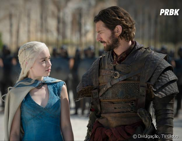 """Daario (Michiel Huisman) pode ser a pessoa com quem Daenerys (Emilia Clarke) vai se envolver novamente em """"Game of Thrones"""""""