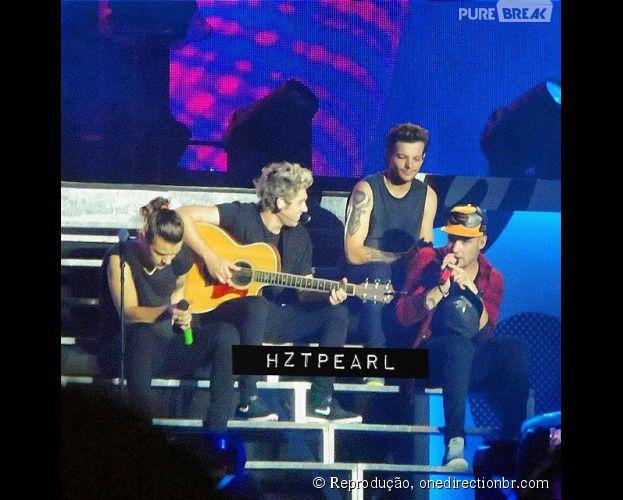 Primeiro show do One Direction sem Zayn Malik (que ainda não tinha deixado a banda), realizado na última quarta (25)
