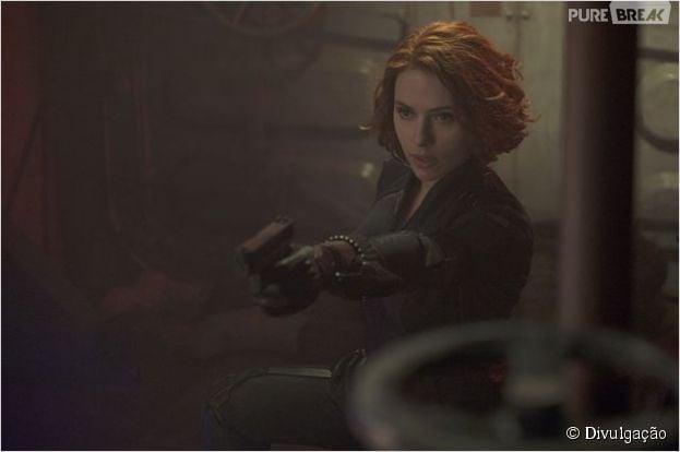 "Scarlett Johansson é a Viúva Negra em ""Os Vingadores 2: A Era de Ultron"""