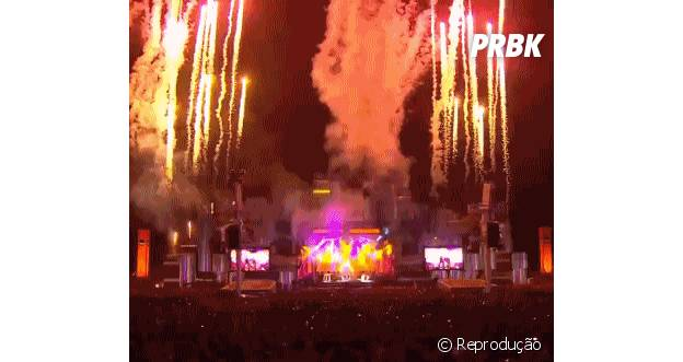 Fogos no Rock in Rio