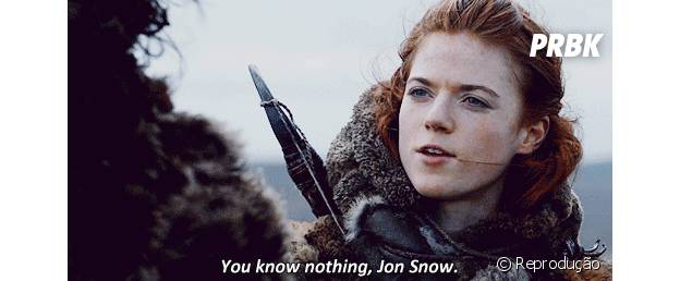 "Frase de ""Game of Thrones: ""You know nothing, Jon Snow"""