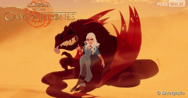 """Daenerys, a mãe dos dragões de """"Game Of Thrones"""" na versão Disney"""