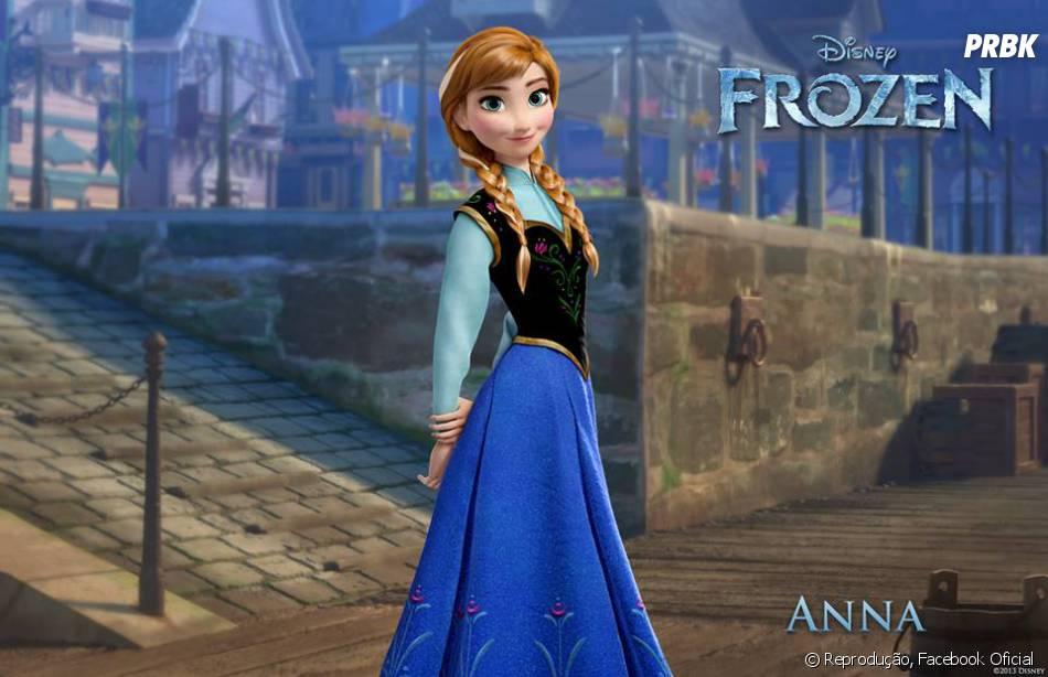 """Produzido pela Disney, """"Frozen - Uma Aventura Congelante"""" tem como protagonista a princesa Anna"""
