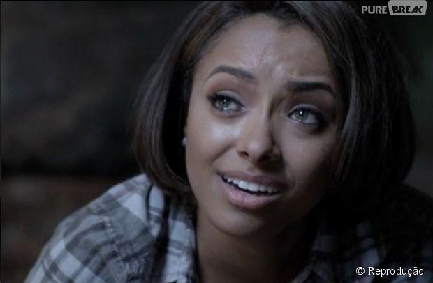 """Kat Graham, a Bonnie, disse que o fim da 6ª temporada de """"The Vampire Diaries"""" não vai ser tão triste assim"""