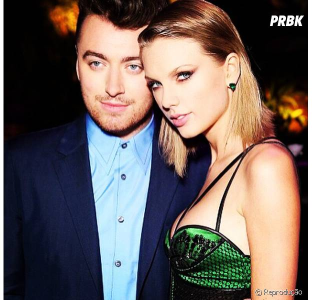 Taylor Swift e Sam Smith no Grammy 2015