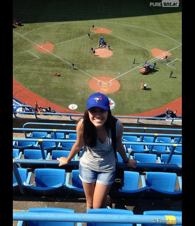 Ingrid Sampaio se divertiu no Canadá nos intervalos de seus estudos
