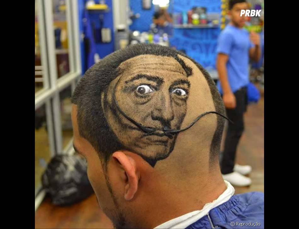 Tem corte de cabelo estilizado pra quem é fã de arte!