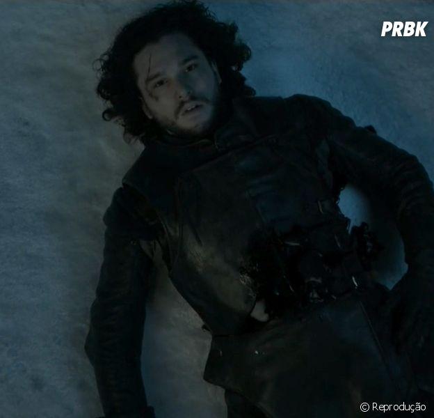 """Jon Snow (Kit Harington) foi a última morte que aconteceu em """"Game of Thrones"""" no final da 5ª temporada"""