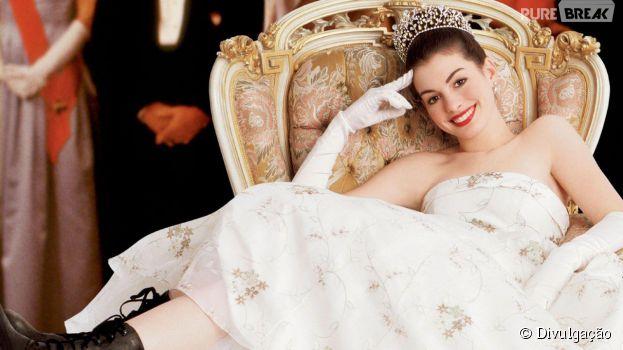 """A série """"O Diário da Princesa"""" foi adaptada pro cinema em um longa com Anne Hathaway no papel da protagonista Mia"""