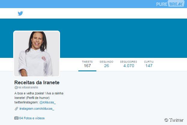 """Receitas da Iranete, do """"MasterChef Brasil"""", viram zoeira nas mãos de usuário do Twitter"""