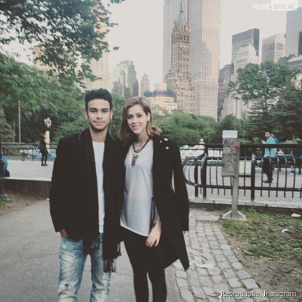 Sérgio Malheiros e Sophia Abrahão em Nova York