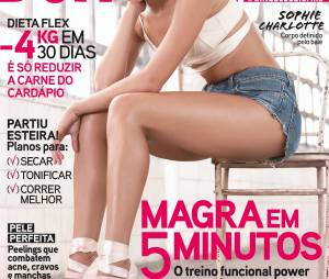Sophie Charlotte estampa a capa de julho da revista Boa Forma