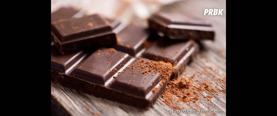 As barras de chocolate também não deixam nada a desejar