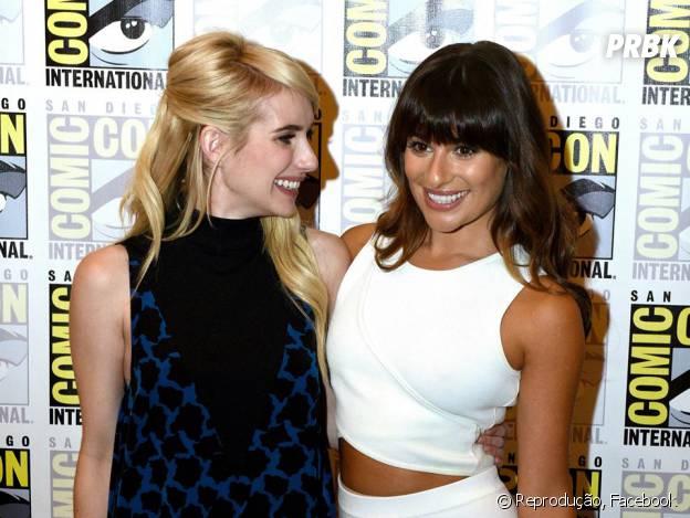 "Emma Roberts e Lea Michele, de ""Scream Queens"", foram à Comic-Con 2015!"