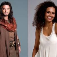 """Novela """"Os Dez Mandamentos"""": Josué (Sidney Sampaio) ganha par romântico vivido por Aisha Jambo"""