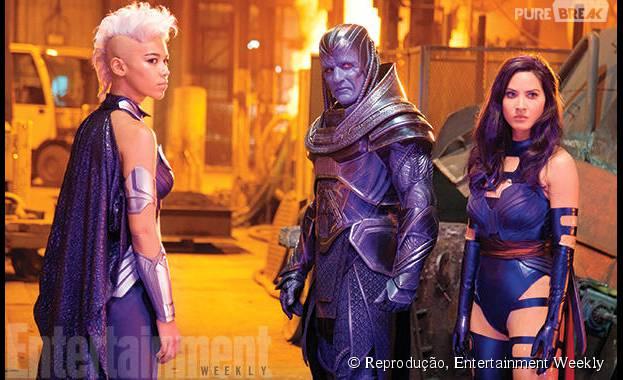 "Olivia Munn interpreta a mutante Psylocke, em ""X-Men: Apocalipse"""